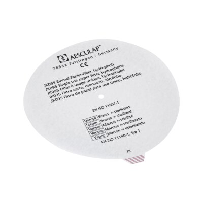 Aesculap Papier Sterilfilter rund, 100 Stück