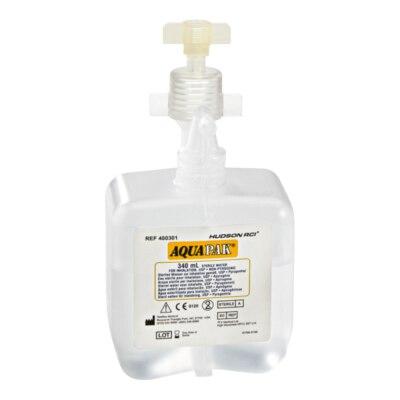 Sterilwasser Aquapak, 340 ml, Befeuchtungsadapter, 20 Stück