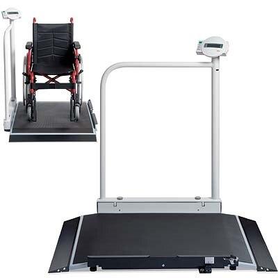 Rollstuhlwaage seca 677, geeicht + Geländer, flexibel, platzsparend