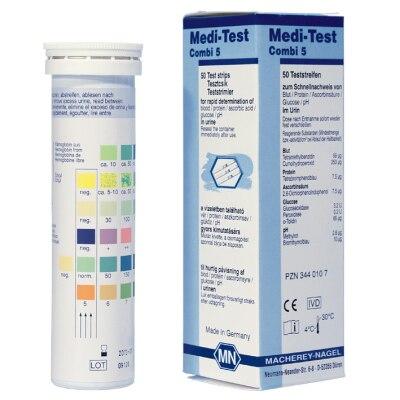 Medi-Test Combi 5 Urinteststreifen, 50 Stück