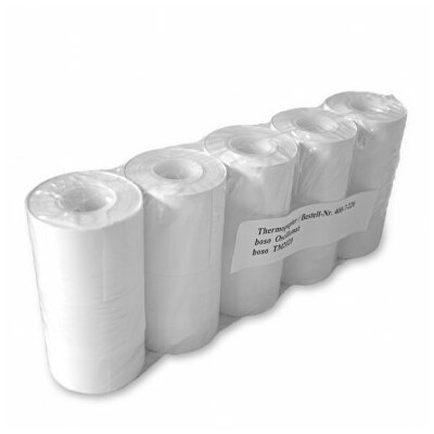Boso Thermo-Papierrolle für Oscillomat und TM-2420 / TM-2020 5 Rollen