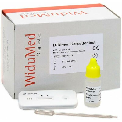 WiduMed D-Dimer Kassettentest, 10 Stück