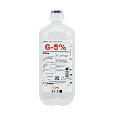 Glucose Infusionslösung 5% Ecoflac Plus, 10 x 500 ml