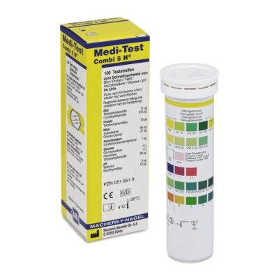 Medi-Test Combi 5N Urinteststreifen, 100 Stück