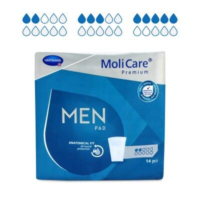 MoliCare Premium MEN PAD Inkontinenzeinlagen, 14 Stück