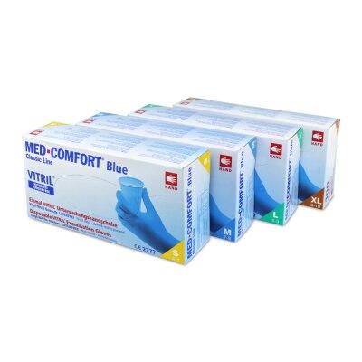 Ampri Vitril Vinyl-Nitril Untersuchungshandschuhe, blau, 100 Stück