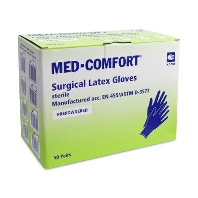 Ampri Med-Comfort Sterile Latex-OP-Handschuhe, gepudert, 100 Stück