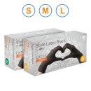 Ampri Style Latex Black Latexhandschuhe, puderfrei, 100 Stück