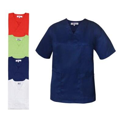 Clinic Dress Unisex - Kasack, Tencel, V-Ausschnitt