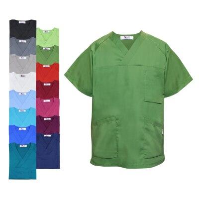 Clinic Dress Unisex-Kasack mit V-Ausschnitt