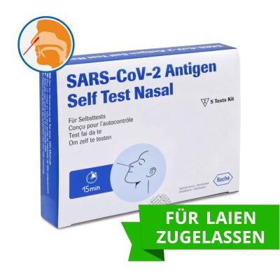 Roche SARS-CoV-2 Antigen-Selbsttest für Laien, 5 Stück