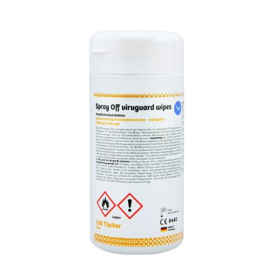 Hygienetücher, Spray Off Viruguard Wipes, 150 Tücher