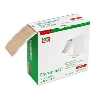 Curaplast Injektionspflaster sensitiv, 2 cm x 4 cm, 250 Stück