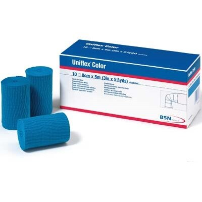 Uniflex color Universal Binde, 10 cm x 5 m 10 Stück