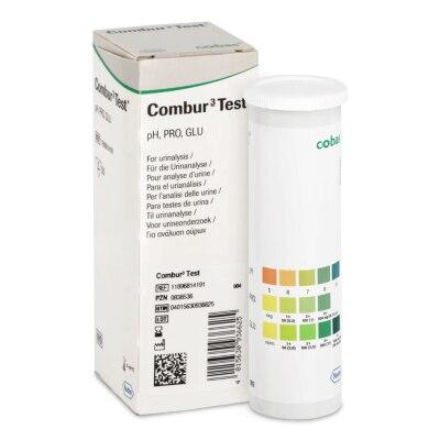 Combur 3 Urinteststreifen, 50 Stück, visuell