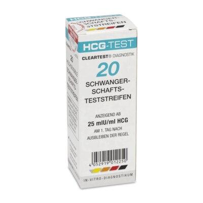 Cleartest HCG Schwangerschaftstest, 20 Stück