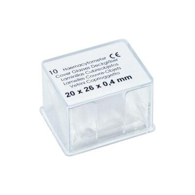 Deckgläser, 20 x 26 mm, Haemacytometer Zählkammer, 10 Stück